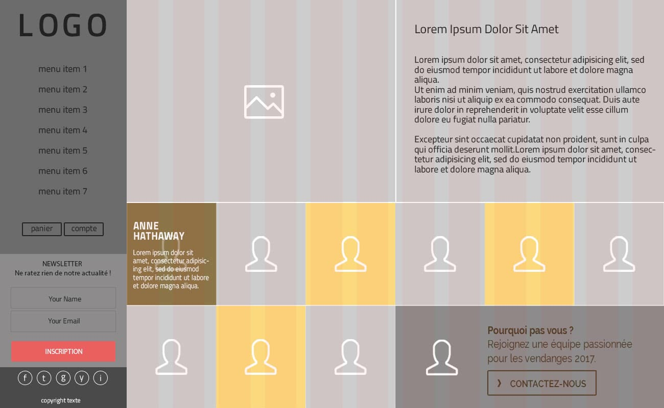 Mockup page equipe site Lucien Crochet